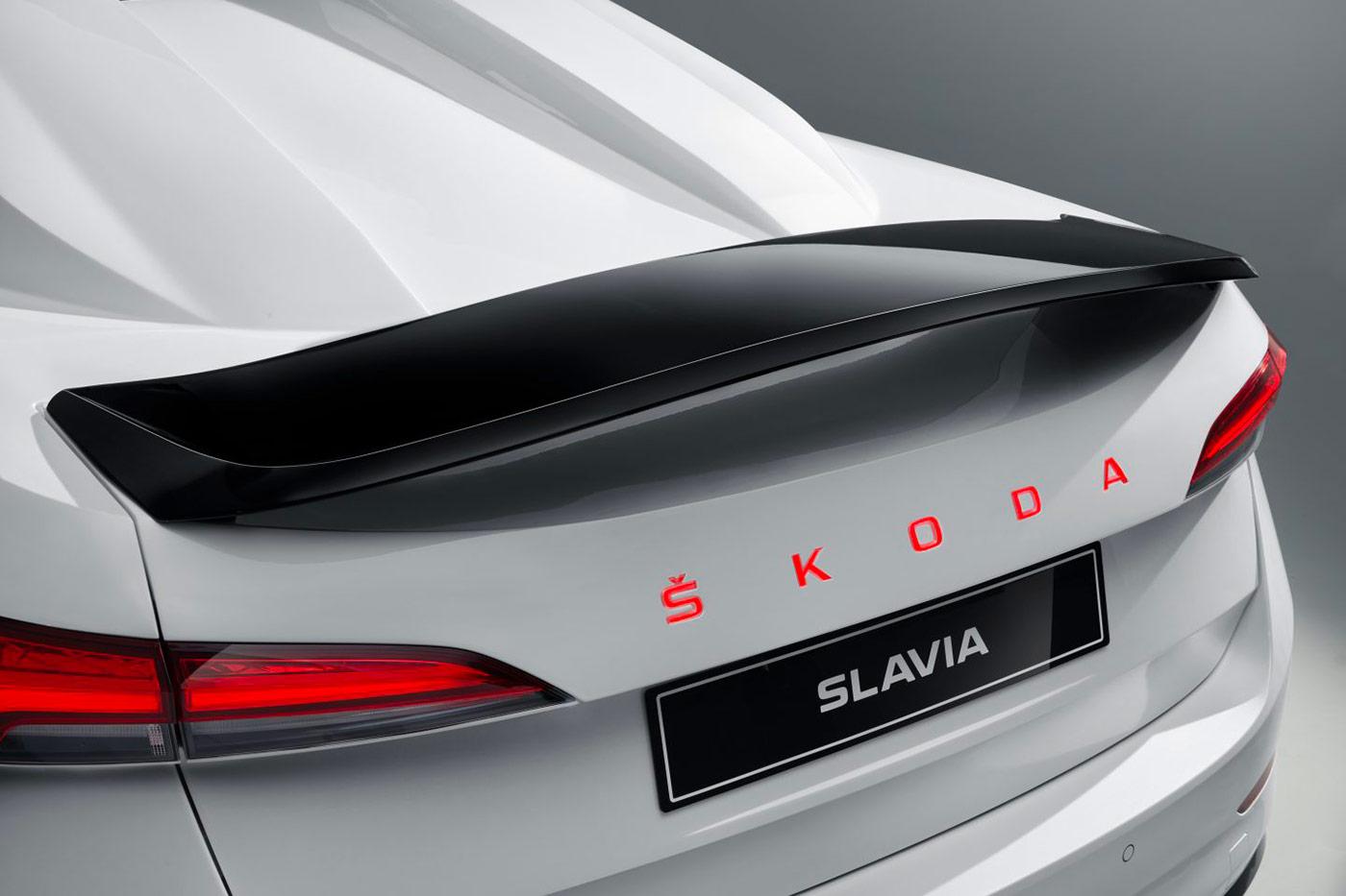 Arrière de la Skoda Slavia Concept