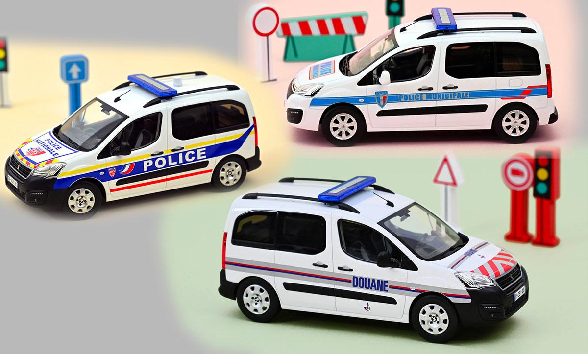 Citroën Berlingo et Peugeot Partner des forces de l'ordre