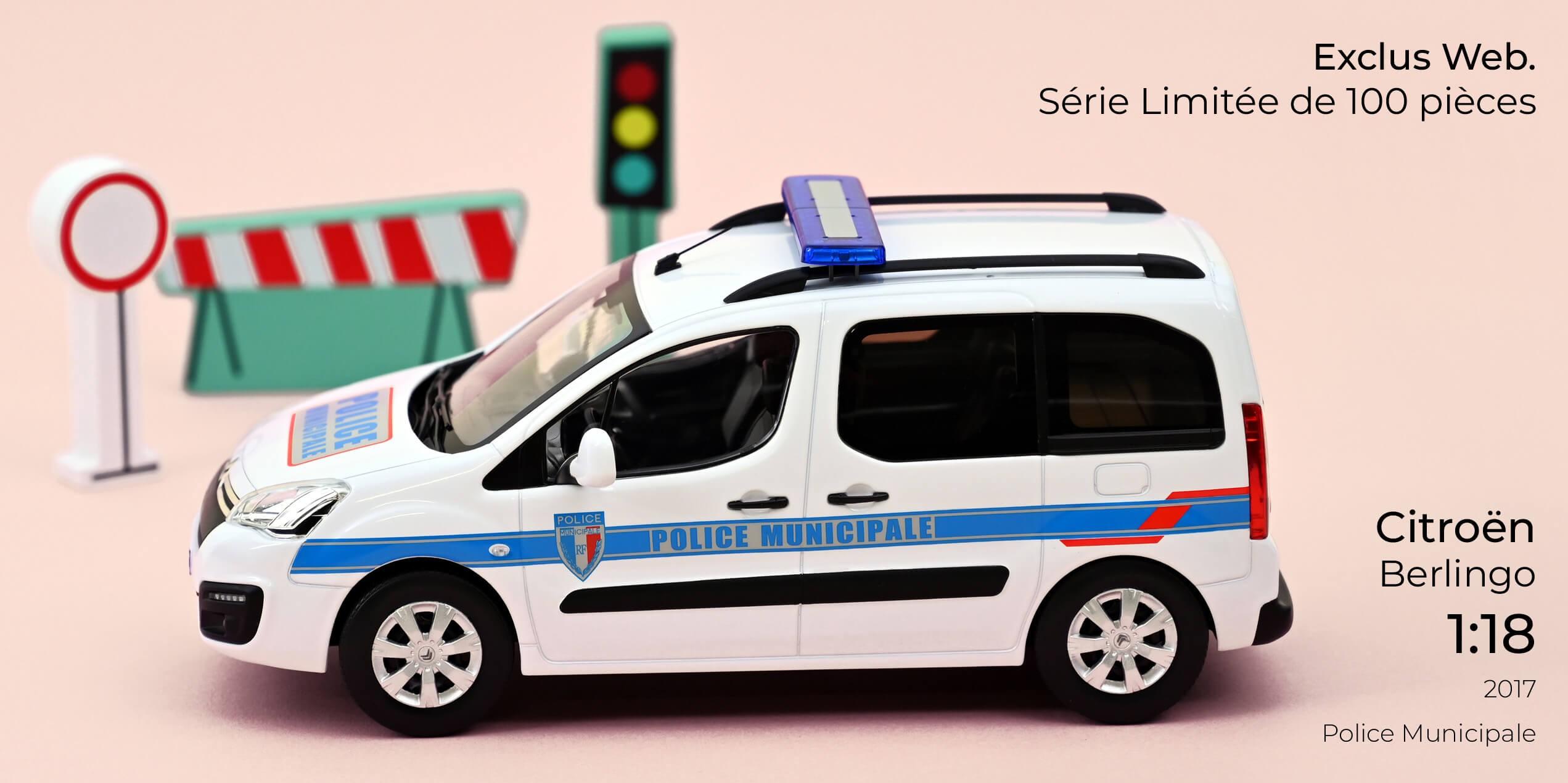 1/18 Citroën Berlingo Police Municipale Norev 181642