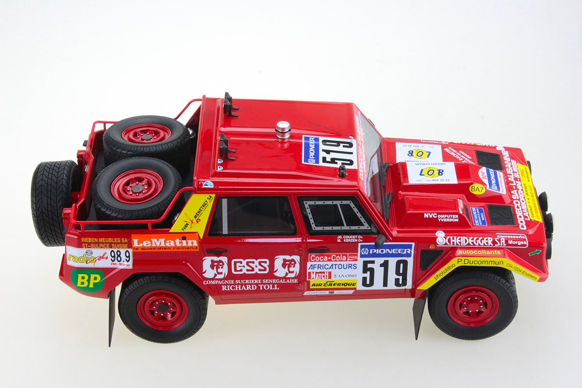 TMPD-08B Lamborghini LM002 Paris Dakar 1988 numéro 519