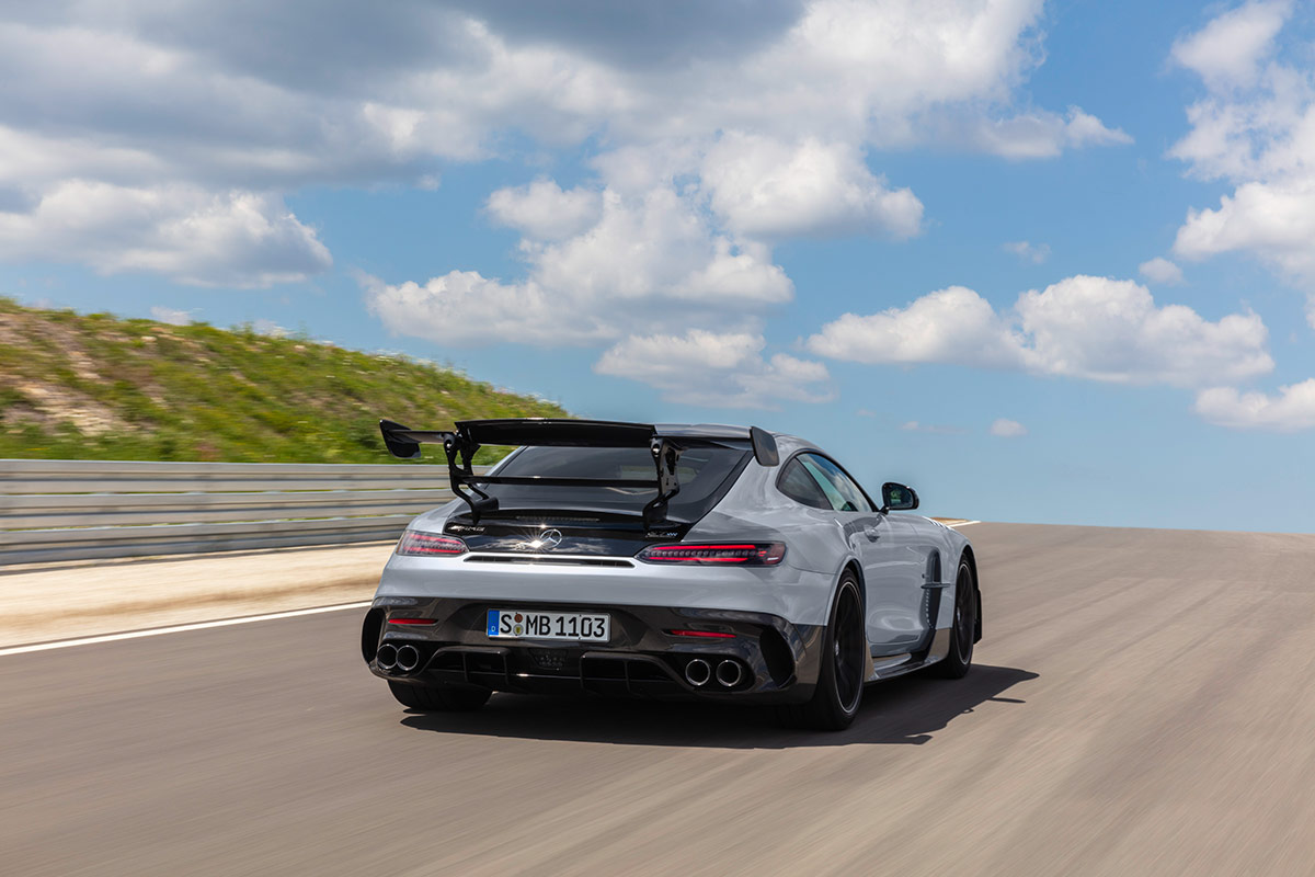 Arrière de la Mercedes AMG GT Black Series