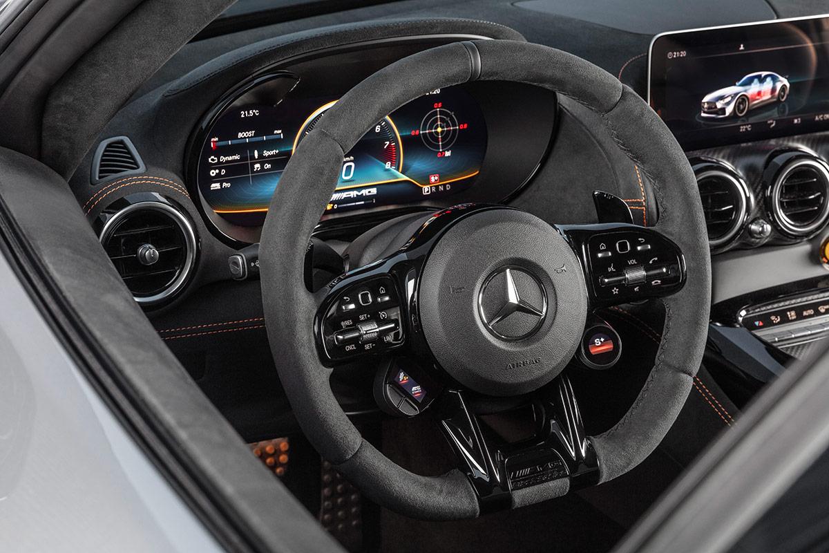 Volant de la Mercedes AMG GT Black Series