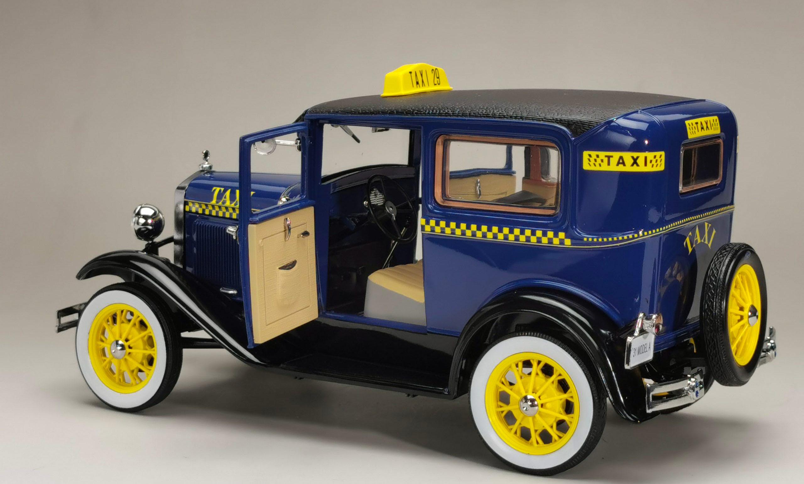 6107 Ford Model A Tudor Taxi arrière