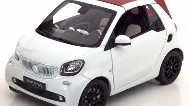 1/18 Smart Fortwo Norev capote rouge