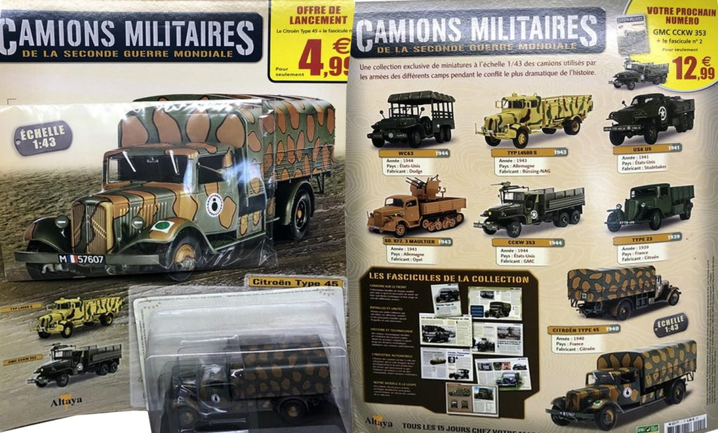 Altaya Camions militaires seconde guerre mondiale