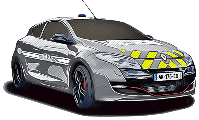 AK-175-ED Renault Megane RS gendarmerie