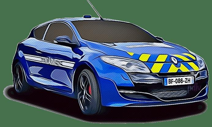 BF-086-ZH Renault Megane RS gendarmerie