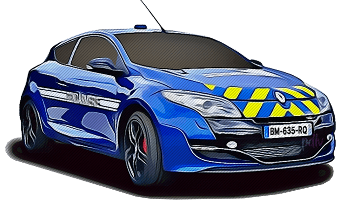 BM-635-RQ Renault Megane RS gendarmerie