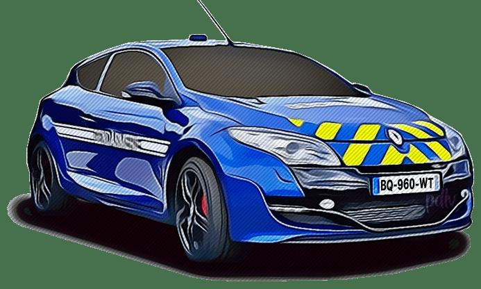 BQ-960-WT Renault Megane RS gendarmerie