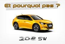 Photo de Et pourquoi pas… Une Peugeot 208 SW ?