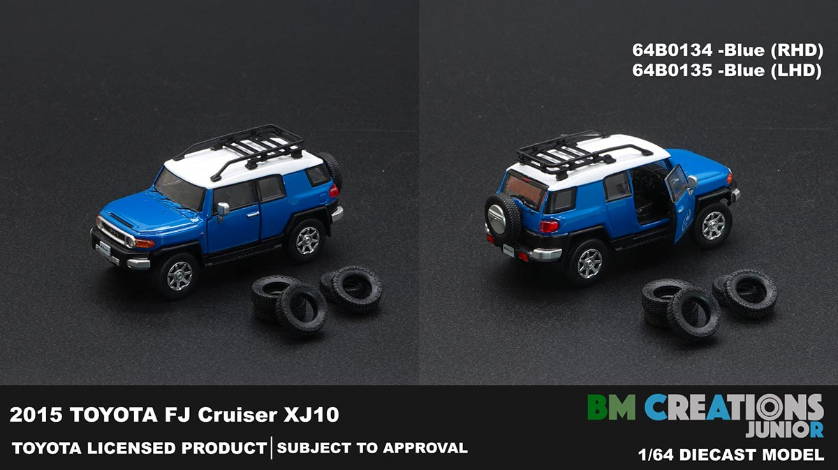 1/64 Toyota FJ Cruiser bleu