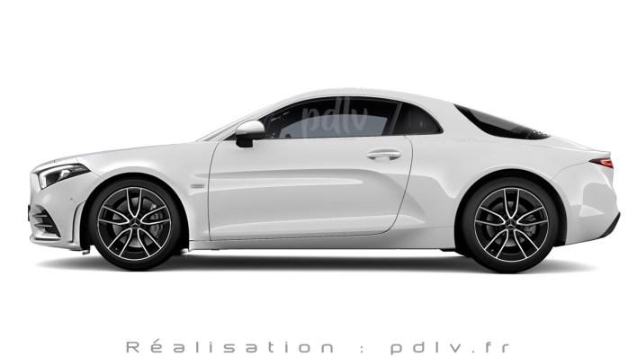 Mercedes SLA profil