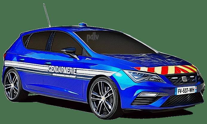 FV-537-WH Seat Leon Cupra gendarmerie