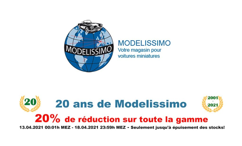 Modelissimo remise 20%