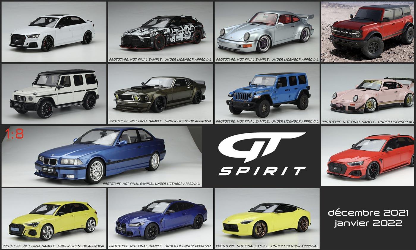 1/18 nouveautés GT Spirit décembre 2021 janvier 2022