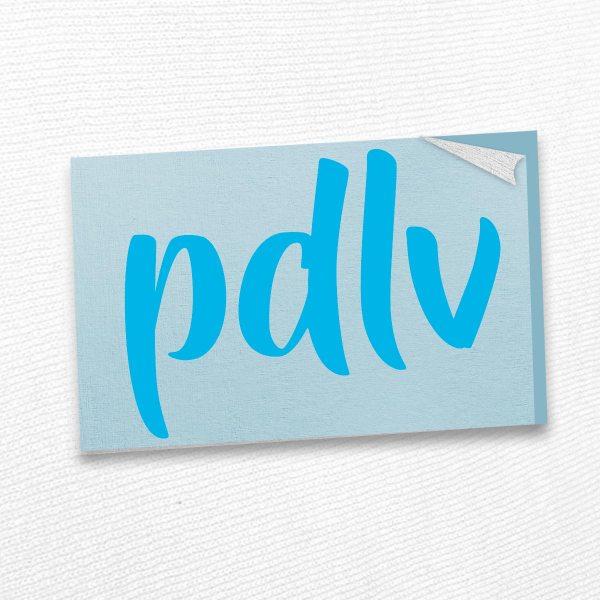 Sticker cyan PDLV STN