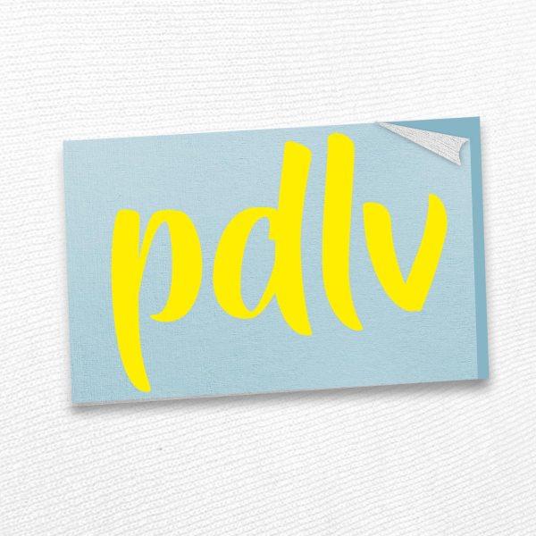 Sticker jaune PDLV STP