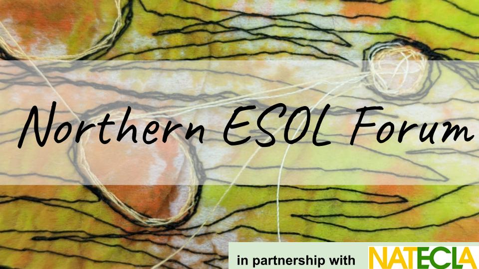 Tapestry image: Northern ESOL forum in partnership with NATECLA