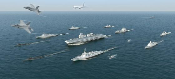 해군이 구상하고있는 이동식 함대. [해군]