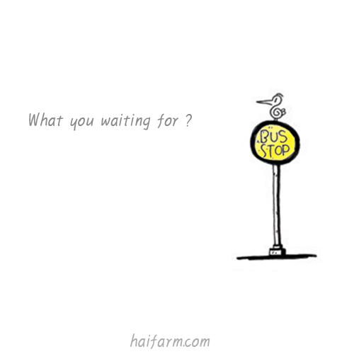 기다리는 것은 오지 않는다...