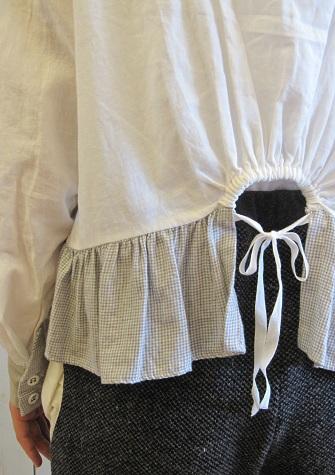 mudoca white blouse closeup
