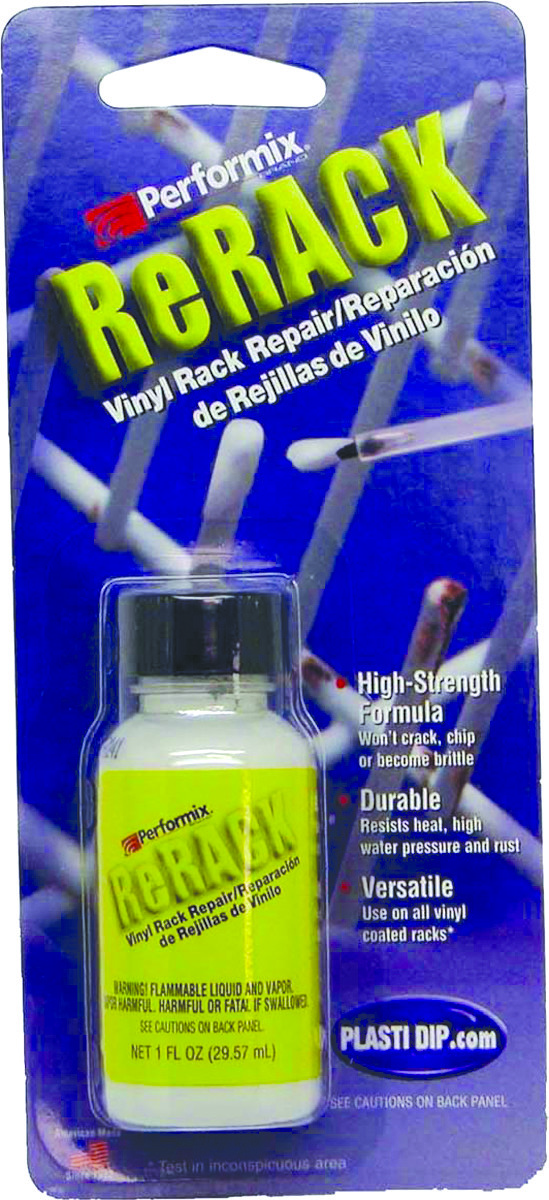 plasti dip 630076 rerack white rerack vinyl dishwasher rack repair 1 ounce