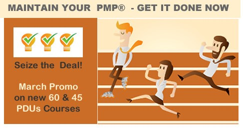 Coupon discount on PDU courses