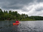 kayaking Floodwood Pond, Saint Regis Canoe Area, Adirondacks, NY