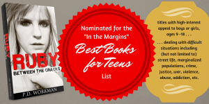 Ruby nominated for In the Margins Best Books for Teens List