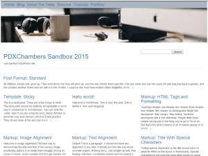 PDXChambers Sandbox 2015 WordPress theme