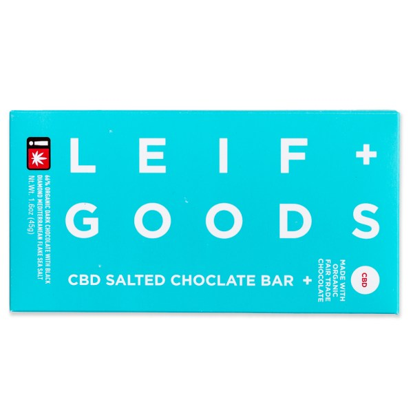 Leif Goods CBD Salted Chocolate Bar | Green Box