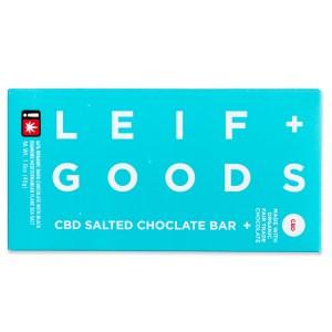 Leif Goods CBD Salted Chocolate Bar   Green Box