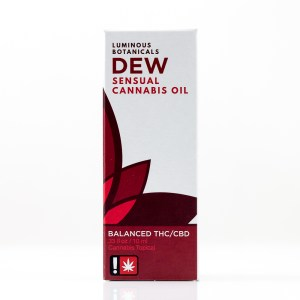 Dew Balanced THC/CBD Sensual Cannabis Lube by Luminous Botanicals | Green Box
