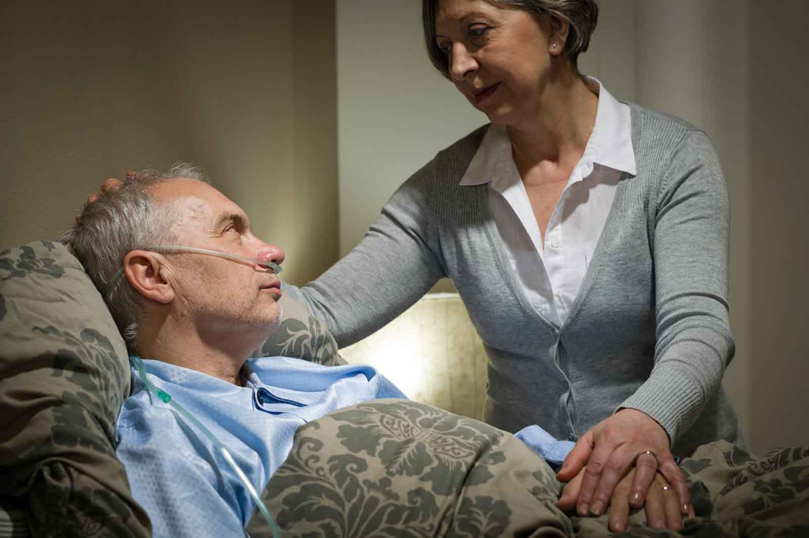 hospice patient and care worker
