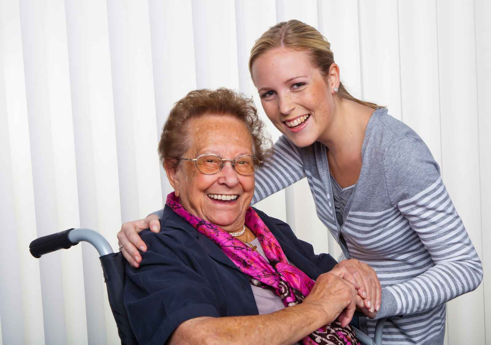 live-in caregiver with client