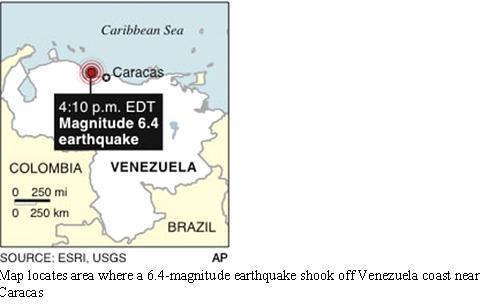 Caracas Earth Quake 6.4