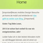 Das mobile Design von pe-home.de