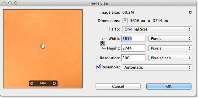 Image result for image size dialog box in photoshop