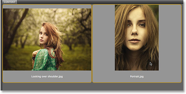 Selecting two images in Adobe Bridge CS6. Image © 2014 Photoshop Essentials.com