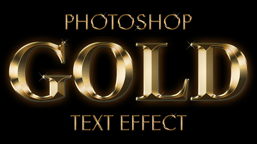 Create A Gold Text Effect In Photoshop Cc And Cs6