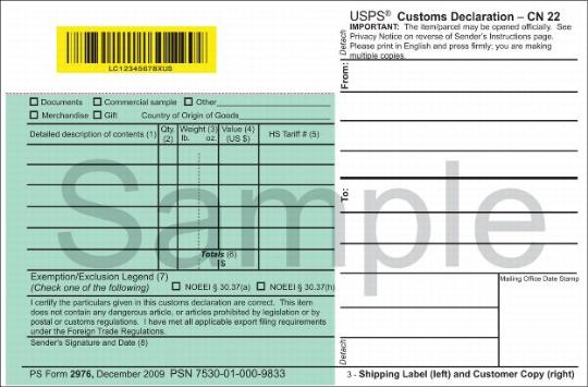 123 Customs Forms And Online Shipping Labels