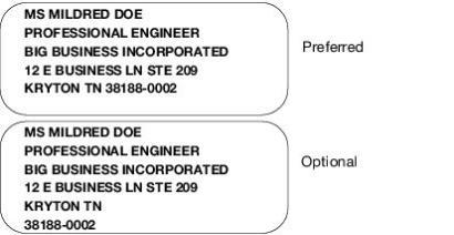 343 Address Line Removal Postal Explorer