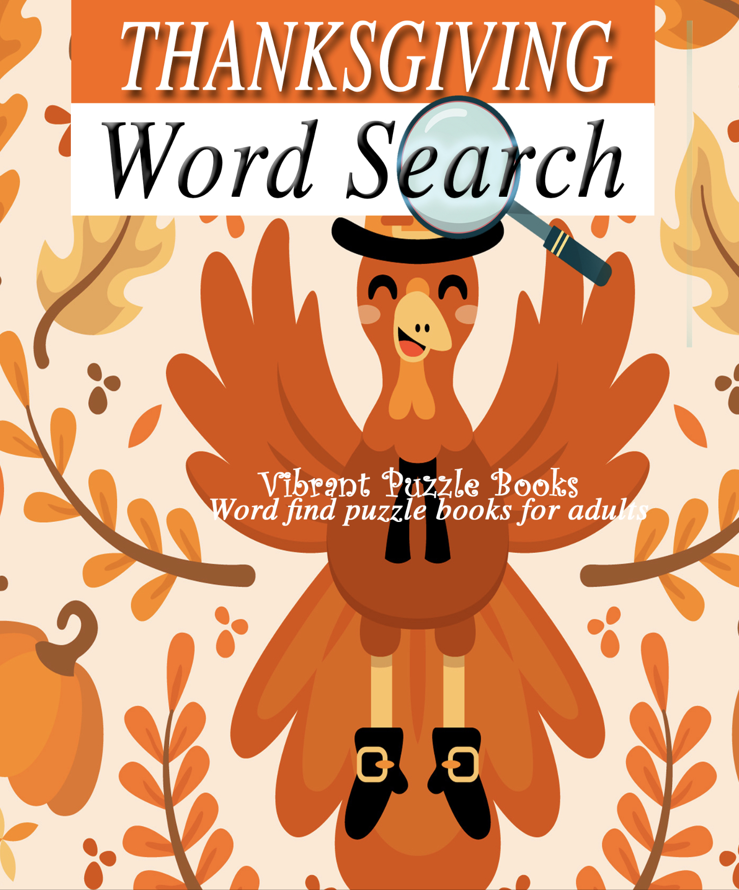 Thanksgiving Word Search Puzzle Books For Adults Large