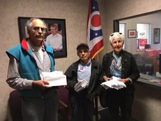 Letters delivered to Sen. Portman's office.