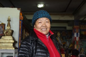 I met her at the Tibetan Monastery and she welcomed me with a cup of Tibetan trea and some local breads