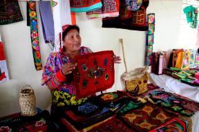 Showcasing of mola handicrafts