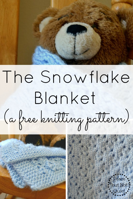 Snowflake Blanket Pattern -- this simple knitting pattern makes an adorable baby blanket that is sure to become a treasured keepsake!