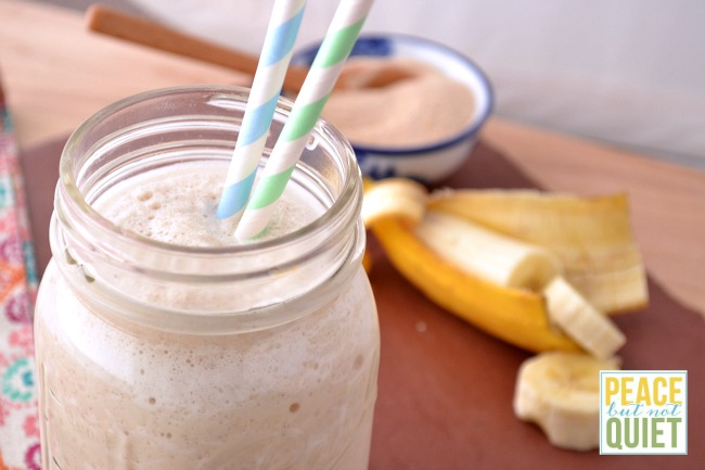 This banana chai smoothie is good for you and makes a delicious breakfast or snack!
