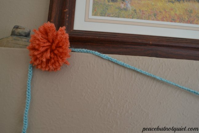 orange pompoms