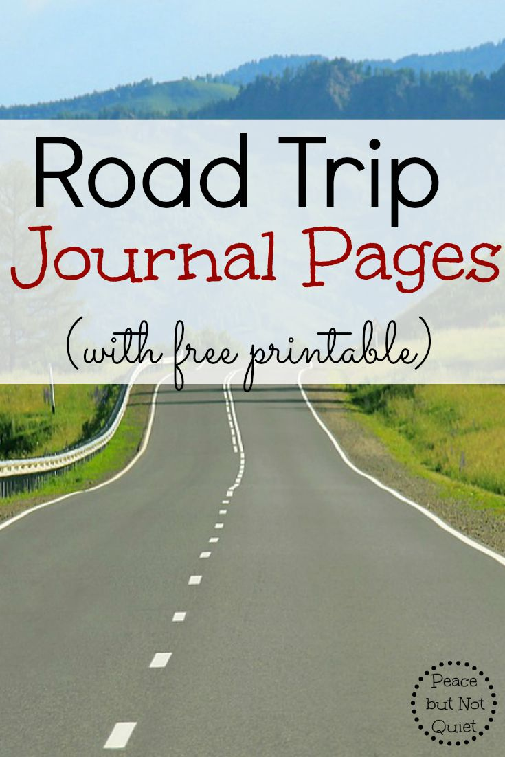Headed on a road trip? These printable journal pages help your kids record their adventures -- and keep them busy on the trip, too!